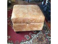 DFS Ranch leather storage footstool