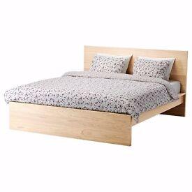 £40 - MALM queen size bed frame + mattress