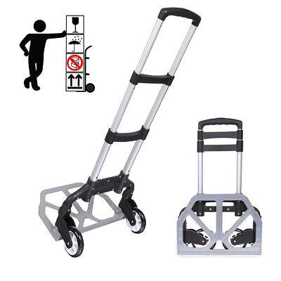Portable Folding Hand Truck Dolly Luggage Carts Handlingtravelshopping Easy