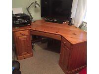 Ducall pine corner computer desk