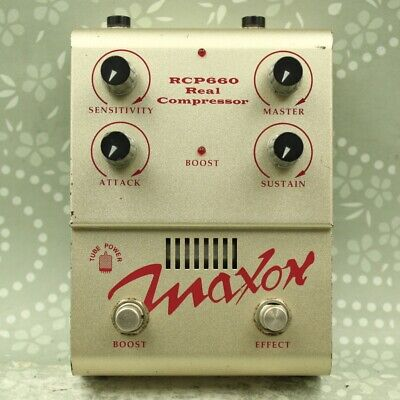 MAXON RCP660 Real Compressor Made in Japan Guitar effect pedal