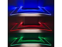 SIA 90cm Multi Colour LED Curved Glass Island Cooker Hood BRAND NEW IN BOX
