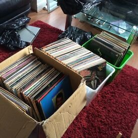 Over 350 vinyl records, could deliver