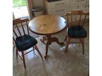 ROUND TABLE WITH 3 CHAIRS PERFECT CONDITION FREE DELIVERY IN LIVERPOOL