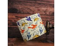Colourful Flight Handmade Lampshade 25cm Drum