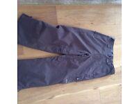 Men's Oakley brown ski trousers