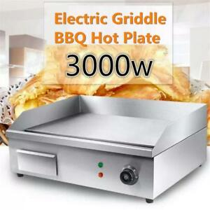 "21"" electric  flat top grill - thermastatic control - stainless steel - FREE SHIPPING"