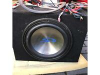 Alpine amp and sub woofer 360w