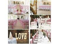 Full wedding venue decoration/styling