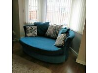 Cuddler Sofa with 2 Accent chairs