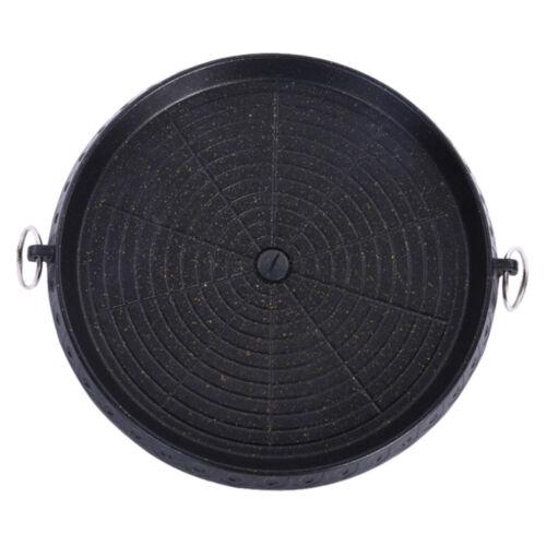 Koreanischer runder Legierungsgrill Grill Grill Platte Pan für das Innen