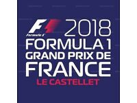 2 Tickets for the F1 Grand Prix De France 2018
