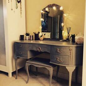 Louis XV style dressing table and stool