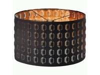 Ikea Nymo lamp shade in black-copper