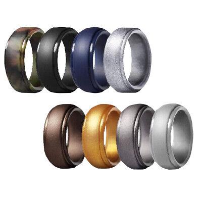 8pc set wedding ring rubber silicone women