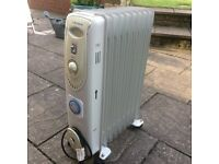 portable electric oil filled radiator/heater