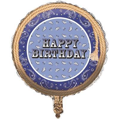 Happy Birthday Western (Set OF 2 Happy Birthday Western Blue Bandana 18