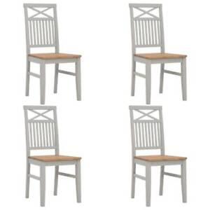 FREE SHIPPING Dining Chairs 4 pcs Grey Solid 0XIR1-031BU-276462