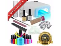 Professional UV Nail Gel Polish Varnish Starter Kit Set with 36w Lamp Light CCO