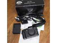 Fuji X-T1 XT1 camera body in immaculate condition