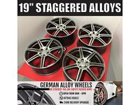 """BRAND NEW 4 19"""" ALLOYS WHEELS TO FIT MERCEDES A B C E S CLASS CLS SLK SL CL C63 55 AMG"""