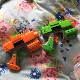 Two small Nerf Guns