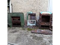 2 Vintage Original Courtier Free Standing Fireplaces/Stoves - Both No 6R Models