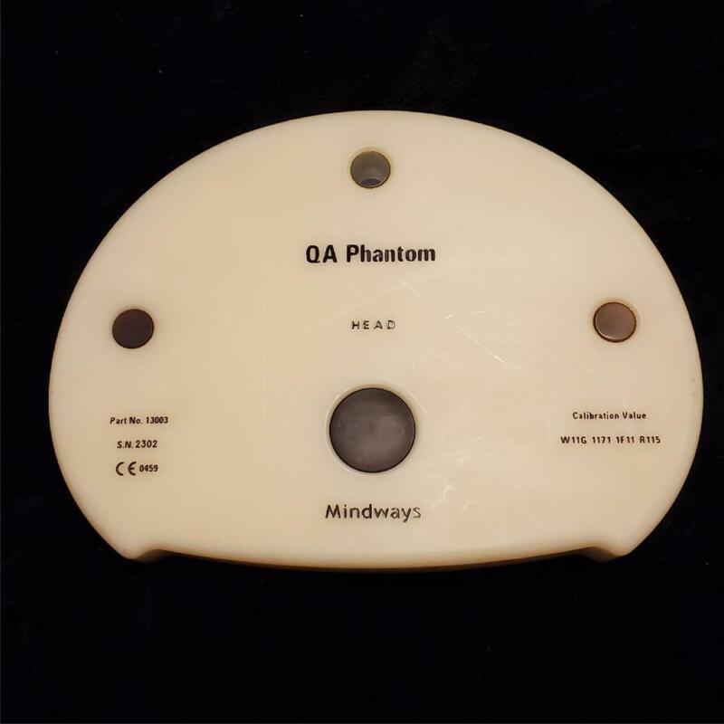 MINDWAYS QA PHANTOM HEAD Part # 13003 Bone Density Analysis Hip Back CT Scan