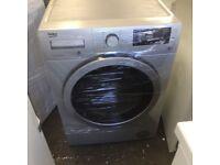 7KG GREY BEKO WASHING MACHINE & DRYER, NEW MODEL (4 months warranty)