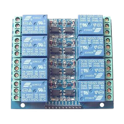 8 Channel Relay Module Optocoupler Isolated Relay 12v 10a Opto Relay Board