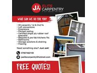 JA Elite Carpentry - your friendly local craftsmen. We offer the full building service.