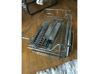 2x Sliding pull out wire basket to fit 35cm width cupboards slide drawers