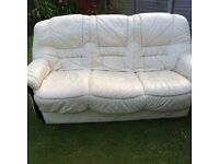 3 Seater sofa and 2 chairs FREE