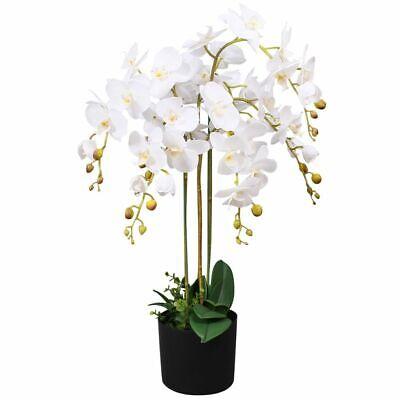"""vidaXL Artificial Orchid Plant w/ Pot 29.5"""" White Fake Flower Floral Decor"""