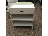 Baby's cream wooden changing unit