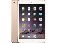 iPad mini 3 gold 64GB with apple smart cover
