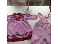 Cute 6-9 month bundle for a girl good for mixed weather!