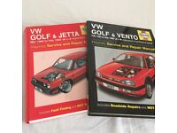 Haynes Manuals - VW Golf - Two books covering from 1984 - 1998