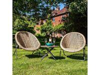 Dawsons Living Faux Rattan Bistro Set - Choice of Colours - Conservatory Garden Patio