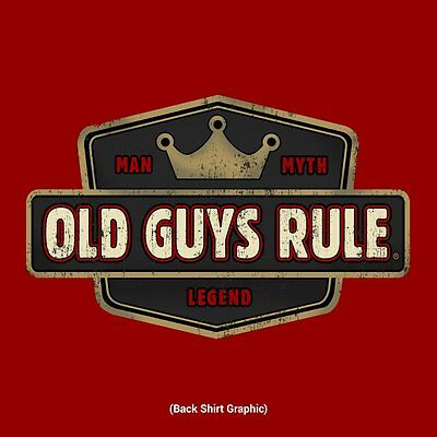 Old Guys Rule   Man  Myth  Legend Beach Independence Red S S T Shirt Size M