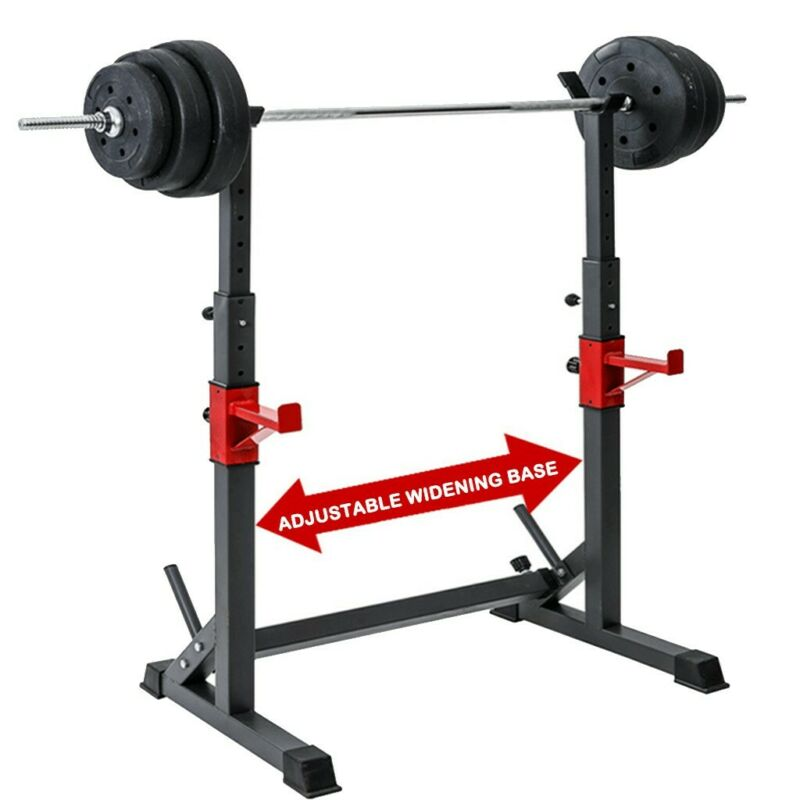 fully adjustable squat rack stands crossfit weight