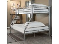 Modern Twin over Full size Bunk Bed
