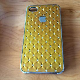 New - iPhone 4 case, in gold design
