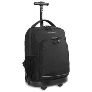 NEW J World New York Sunny Rolling Backpack, Black, One Size