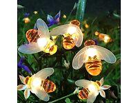 Solar String Lights, 8 Modes 30 LED Honey Bee
