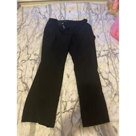 Tailored Black work trousers from Next