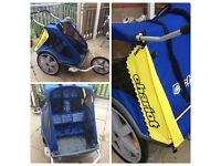Children's trailer. Chariot Child transport system for bike, bargain.