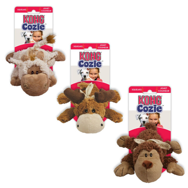 Kong Plush Cozies Naturals Plush Dog Toy Small Various Colours