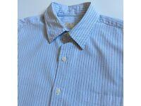 NEW J.CREW J CREW LIGHT BLUE STRIPED L/S OXFORD SHIRT - S
