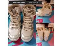 Hidden heel river island trainers